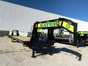 Hot Shot Trailer 40ft Flat Bed   Hot Shot Trailer 40ft Flat Bed . 14in I-Beam main frame, dexter axles, hydraulic jack set, and extra wide mega ramps.